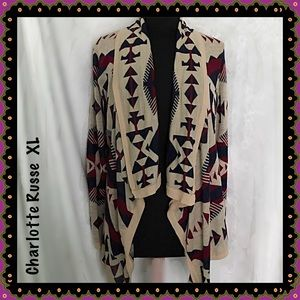 Charlotte Russe Aztec Cardigan Sweater Size XL